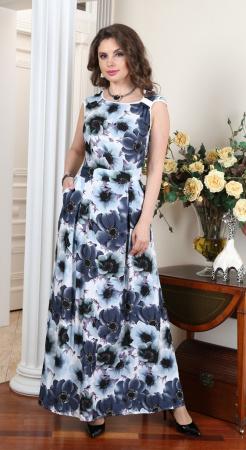 Арт. 7222Б платье крупные цветы Salvi от производителя Salvi